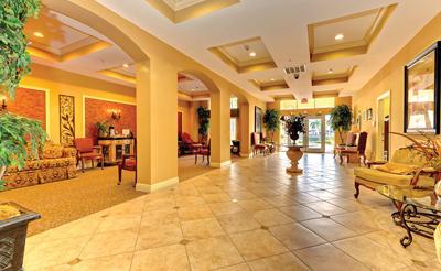River Dance Condominium lobby