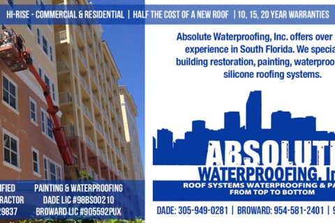 Absolute Waterproofing — 1/6 Page Horizontal ad