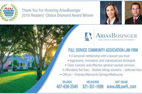 AriasBosinger — 1/2 Page Horizontal ad