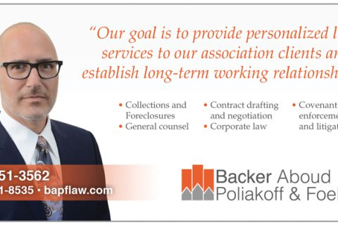 Backer-Aboud — 1/6 Page Horizontal ad