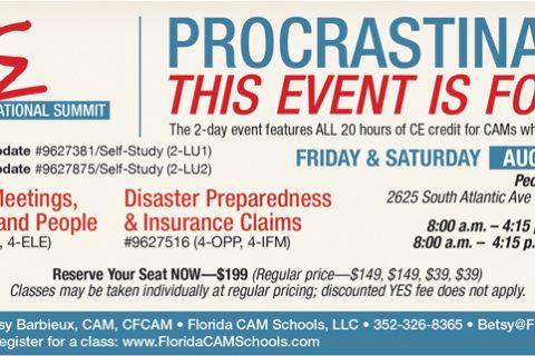 Florida CAM Schools — 1/3 Page Horizontal ad