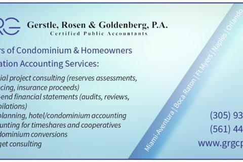 GRG Gerstle, Rosen & Goldenberg, P.A. — 1/6 Page Horizontal
