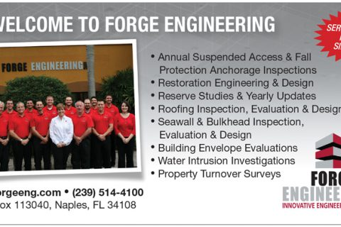 Forge Engineering — 1/6 Page Horizontal ad